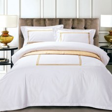 Egyptian Cotton Luxury Embroidery Satin Hotel Bedding Sets Bed linen Duvet Cover
