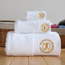 100% Cotton 5 Star Hotel Bath Towel with customized logo