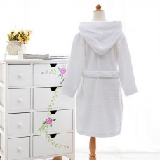 Customized super Soft 100% cotton kids hooded bathrobe
