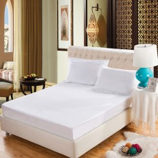 Luxury Home Hotel Pure White 100% cotton fitted sheet