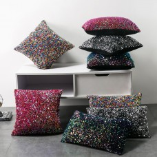 Rainbow sequins cushion cover pillow cover cushion 45*45cm/18*18inch in stock