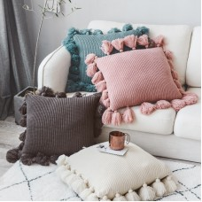 Pure color ball of yarn cover pillow cover cushion 45*45cm/18*18inch in stock