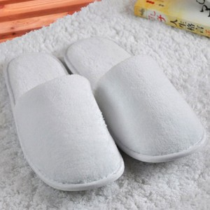 Customized Embroidery Logo100% Cotton Velour Slipper