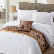 Chocolate Color Fancy Design Hotel Bed Runner
