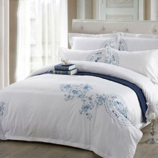 Chinese Style Embroidery 100% Cotton Hotel Bedding Set