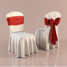 Restaurant Chair Cover with Ruffled