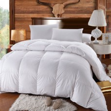 King Size Goose Down Comforter 100 percentCotton 750FP - 60Oz - Solid White