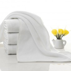 3 Star Hotel Widely Used Cotton Plain White Towel Set