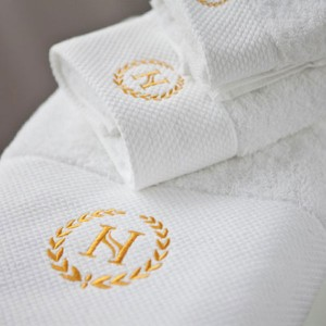 Luxurious Embroidery Dobby Border Cotton Hotel Bath Towel Set