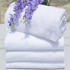 100%Cotton Plain White Widely Used Hotel Towel Set