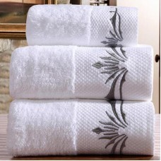 Cotton hotel embroidered  towel sets