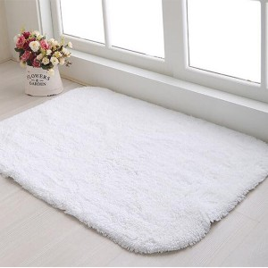 100% Cotton plain white hotel bath rug