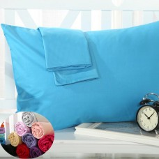 cotton printed pillowcase solid colorpilow sham